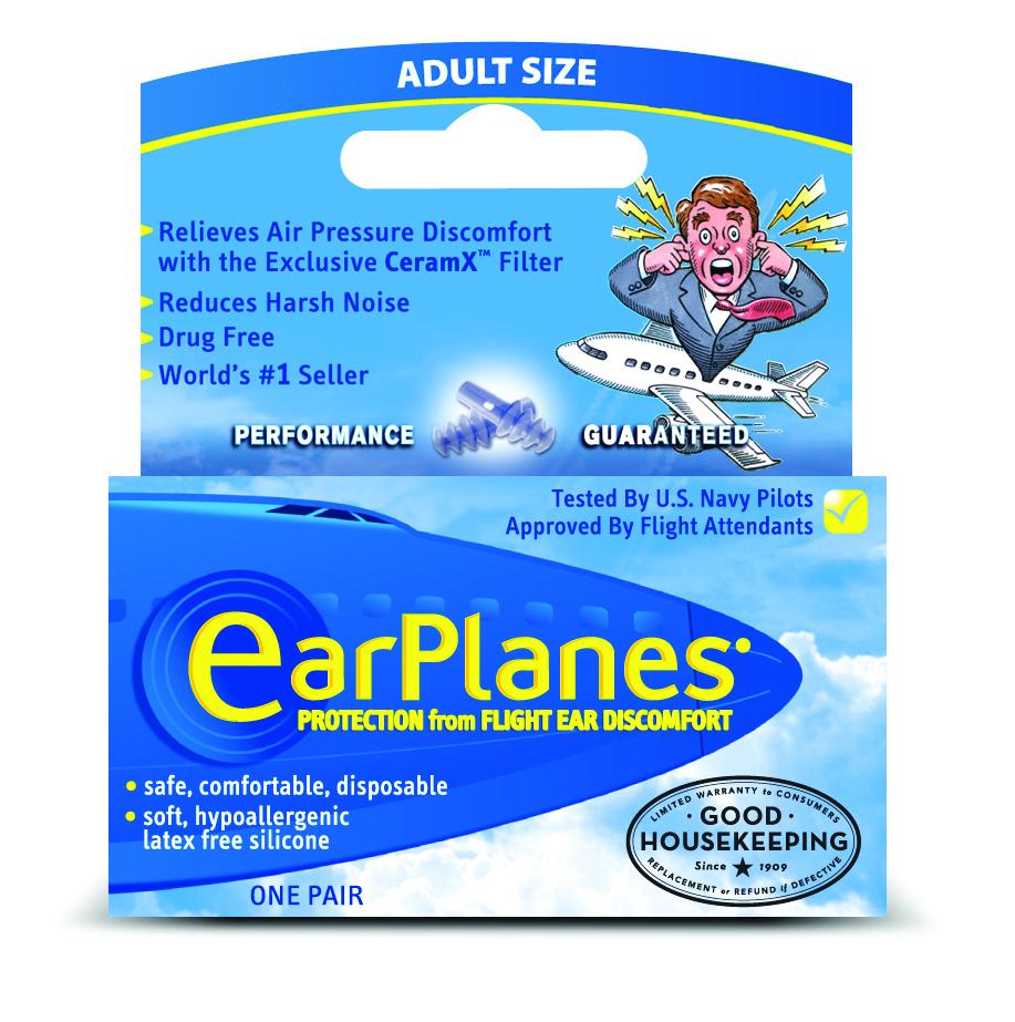 ADULT EARPLANES FLIGHT PRESSURE EAR PLUGS - Walmart.com